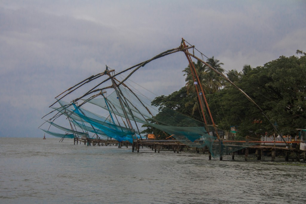 Chinese fishing nets at Fort Kochi