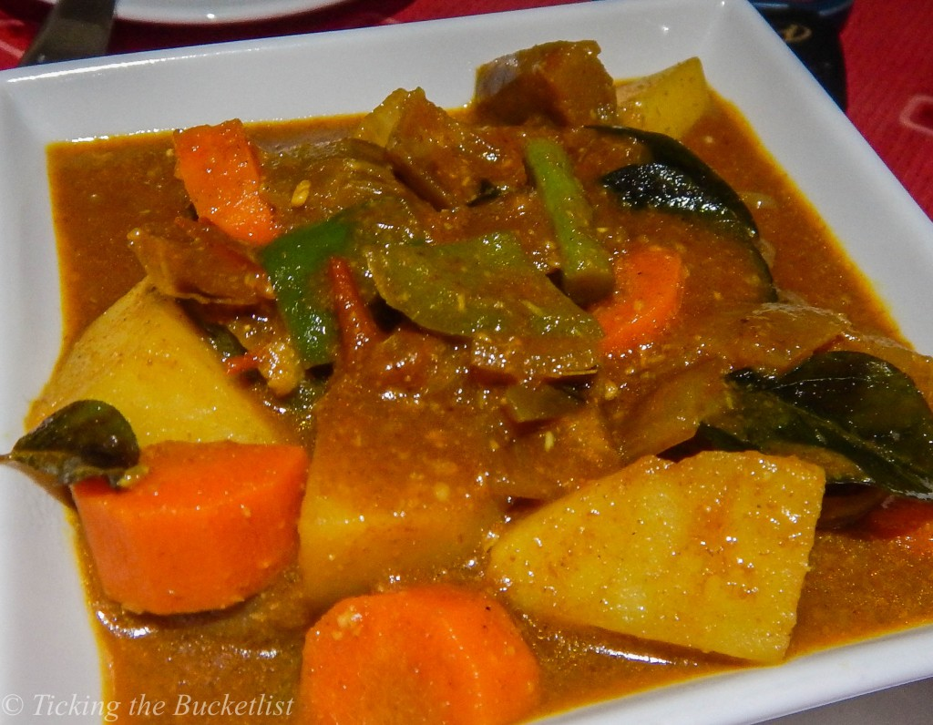 Vegetable curry at Seychelles