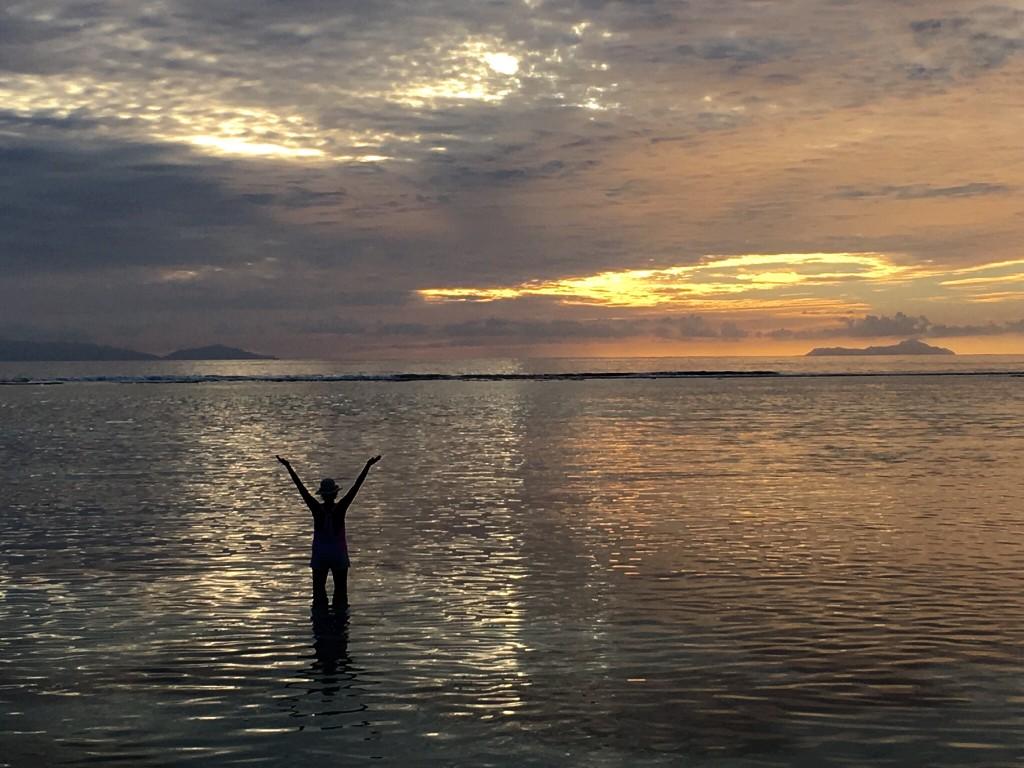 Sunset at Anse Source d'Argent