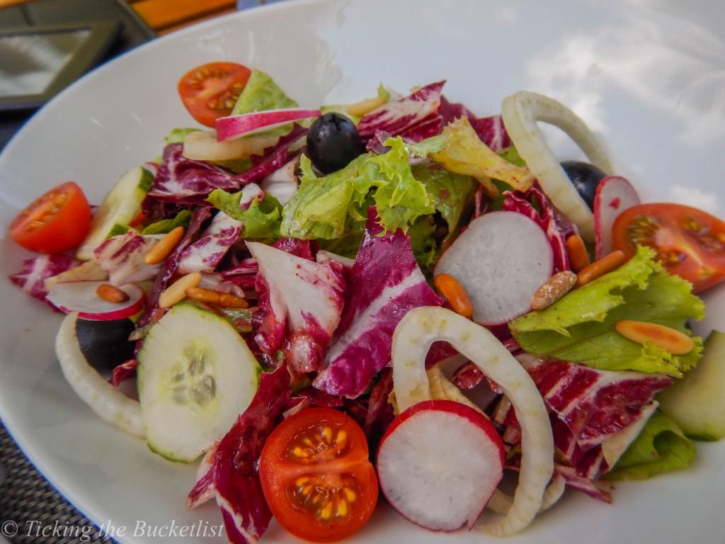 A refreshing salad at the Kempinski, Mahe
