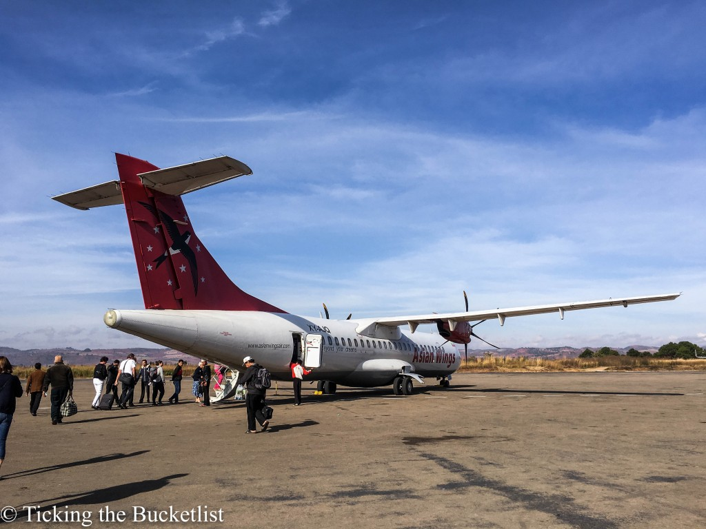 Domestic flight from Heho to Yangon