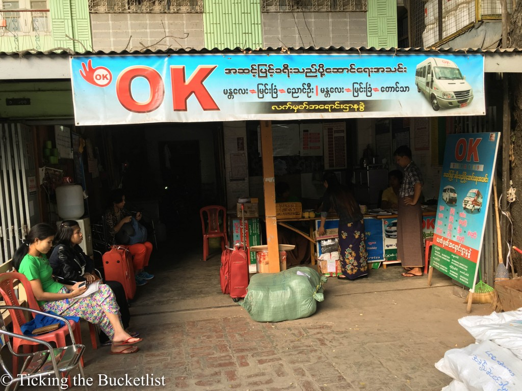 Pick up point for OK Bus, if you do not have a hotel address in Mandalay