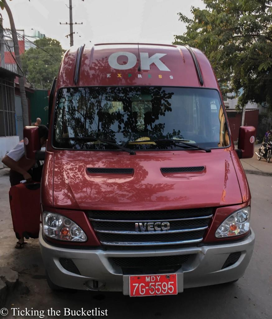 Mini from Mandalay to Bagan