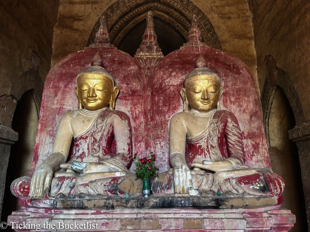 A rare sight to see two Buddhas...This one is at Dhammayangi