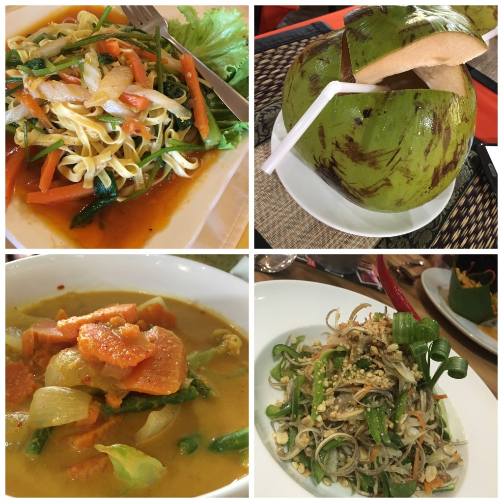 Relishing Khmer food....