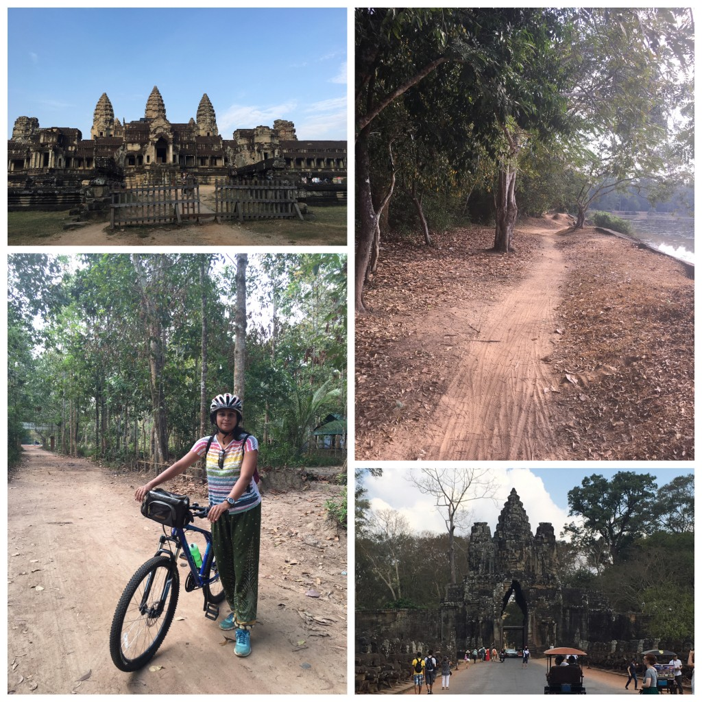 Cycling through the Angkor area....