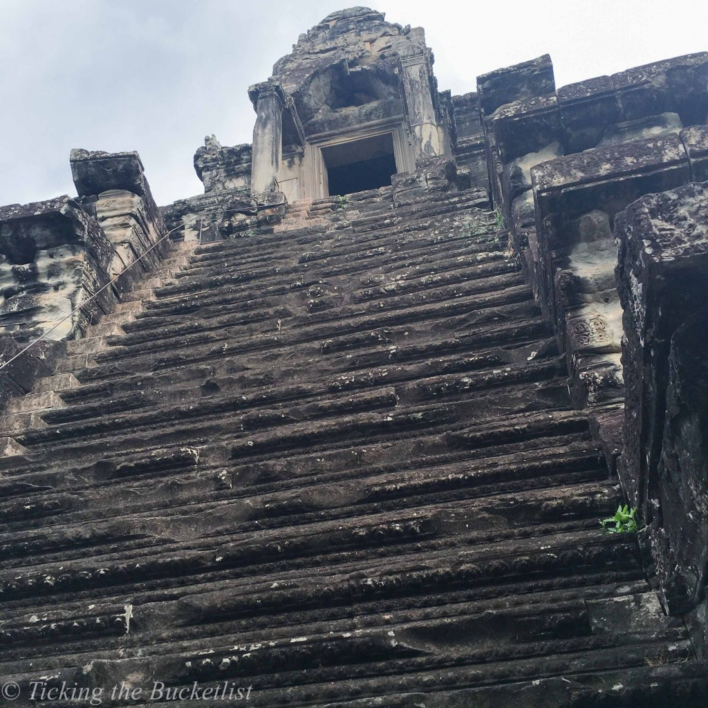 Steep steps to the top...at the Angkor Wat