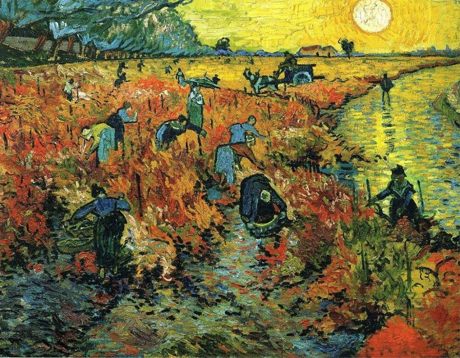 The Red Vineyards (Courtesy: Www.VanGogh.net)