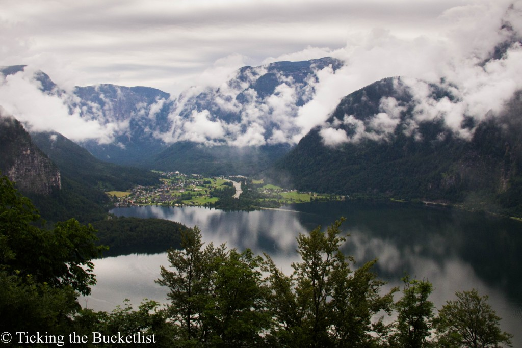 Cloudy and rainy day in Hallstatt
