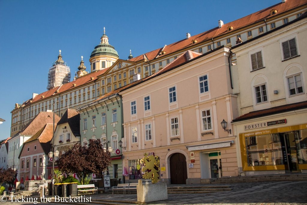 Town center in Melk