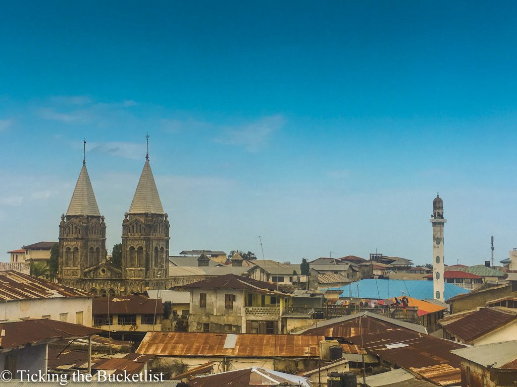 View of Stone Town from the rooftop of Maru Maru