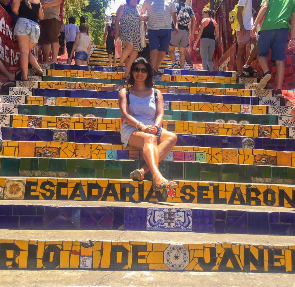 At the Lapa Steps...